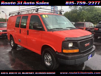 "2007 GMC Savana Cargo Van RWD 3500 135"" - Click to see full-size photo viewer"
