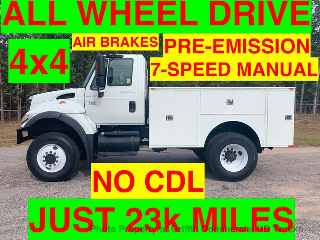 2007 International AWD UTILITY JUST 23k MILES NON CDL AIR BRAKES PRE EMISSION DIESEL!!  SPICER MANUAL 7 SPEED!!