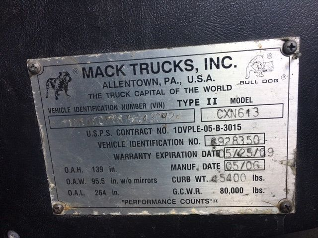 2007 Mack VISION 613 CXN TANDEM AXLE TRACTOR - 18706728 - 25