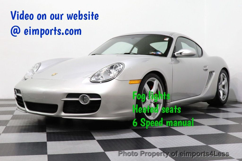 2007 Porsche Cayman CERTIFIED CAYMAN S 6 SPEED MANUAL HEATED SEATS - 18467693 - 0