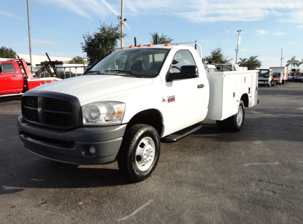 2008 Dodge RAM 3500 4X4 6.7L CUMMINS 8FT UTILITY BED - 18332066 - 0
