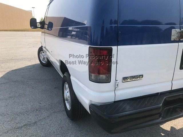 2008 Ford Econoline Cargo Van E350 LADDER RACK SHELVES NO WINDOWS 5.4L V-8  - Click to see full-size photo viewer