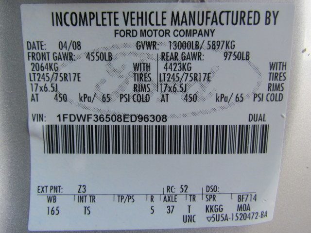 2008 Ford F350 Flatbed 4x2 - 14908167 - 30