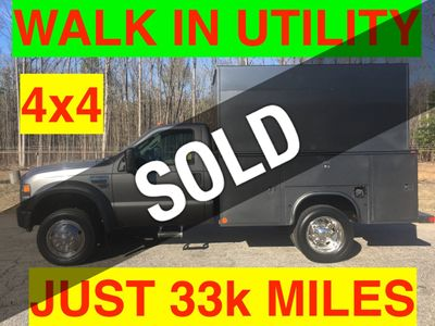 2008 Ford F450 4x4 JUST 33k MILES WALK IN IN UTILITY BODY SUPER CLEAN ONE OWNER VA TRUCK!!
