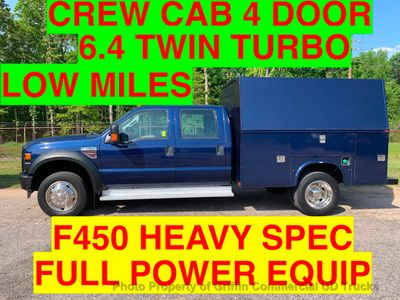 2008 Ford F450HD CREW CAB 4x4 UTILITY SERVICE BODY JUST 58k ONE OWNER!! HUGE WALK IN UTILITY Truck
