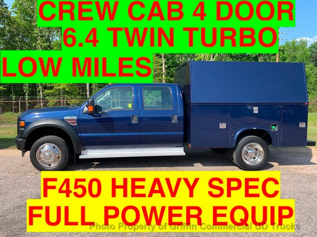 2008 Ford F450HD CREW CAB 4x4 UTILITY SERVICE BODY JUST 58k ONE OWNER!! HUGE WALK IN UTILITY