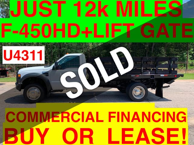 2008 Ford F450HD JUST 12k MILES STAKE BODY LIFT GATE ONE OWNER HEAVY SPEC! 16k GVW
