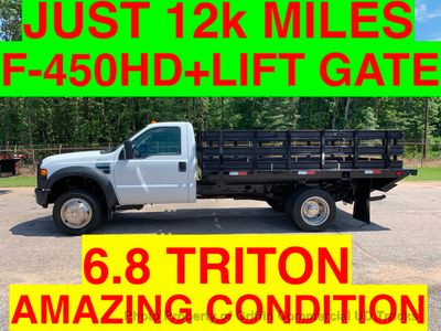 2008 Ford F450HD JUST 12k MILES STAKE BODY LIFT GATE ONE OWNER HEAVY SPEC! 16k GVW - Click to see full-size photo viewer