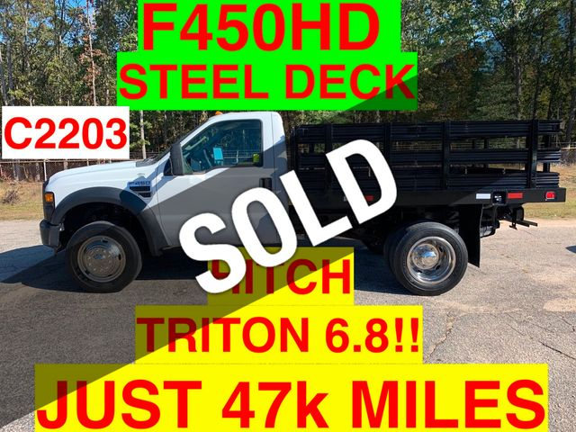 2008 Ford F450HD JUST 47k MILES ONE OWNER NC TRUCK TRITON 6.8!! HITCH RECEIVER!! READY TO TOW!!