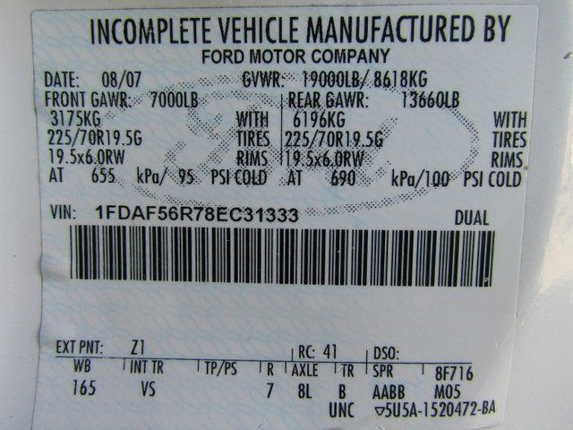2008 Ford F550 Utility-Service 4x2 - 14105244 - 30