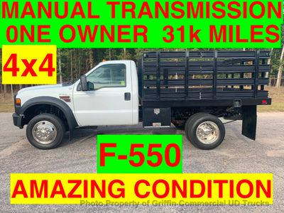 2008 Ford F550 4x4 31k MILES 6 spd MANUAL TRANSMISSION ONE OWNER! AMAZING CONDITION! NEXT WEEK! Truck