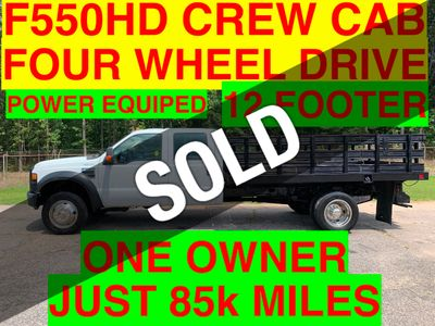 2008 Ford F550 CREW CAB 4X4 12FT STAKE BED-DEALER FINANCING ONE OWNER!! HARD TO FIND! HEAVY SPEC! SOUTHERN TRUCK
