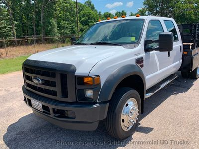 2008 Ford F550HD CREW CAB 4X4 RACK STAKE TRUCK JUST 48k MI ONE OWNER! DIESEL AUTOMATIC - Click to see full-size photo viewer
