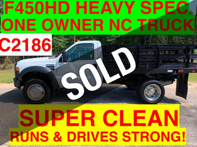 2008 Ford F-450HD ONE OWNER NC TRUCK HEAY SPEC 16,000 GVW SUPER DEAL ACT FAST! WILL SELL QUICKLY!!