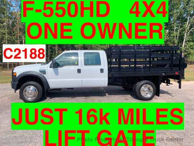 2008 Ford F-550 CREW 4X4 JUST 16k MILES STAKE LIFT GATE ONE OWNER!! CAN ADD HITCH WITH THIS STYLE GATE!
