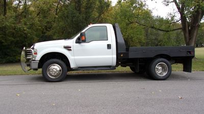2008 Ford Super Duty F-350 DRW Cab-Chassis 4WD REG CAB XLT FLATBED Truck
