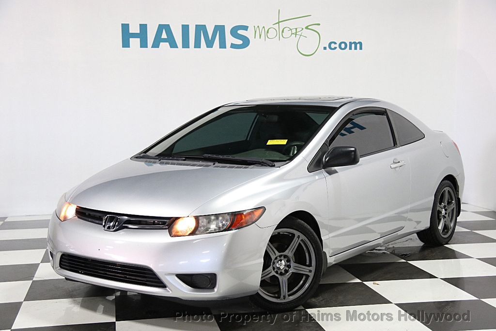 2008 used honda civic coupe 2dr automatic ex at haims motors ft lauderdale serving lauderdale. Black Bedroom Furniture Sets. Home Design Ideas