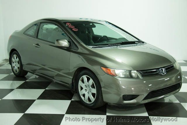 2008 used honda civic coupe 2dr automatic lx at haims motors hollywood serving fort lauderdale. Black Bedroom Furniture Sets. Home Design Ideas