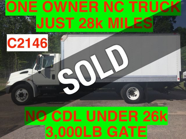 2008 International NON CDL BOX TRUCK LIFT GATE JUST 28k MILES ONE OWNER NC TRUCK!! DT466 3000 ALLISON