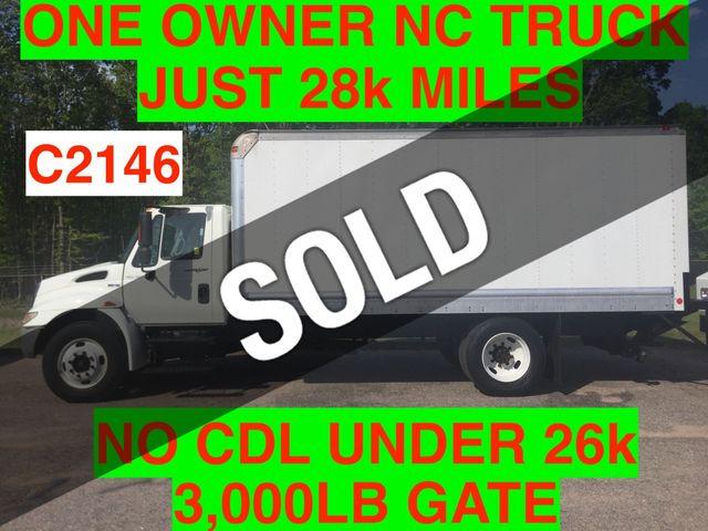 2008 International NON CDL BOX TRUCK LIFT GATE JUST 28k MILES ONE OWNER NC TRUCK!! DT466 3000 ALLISON