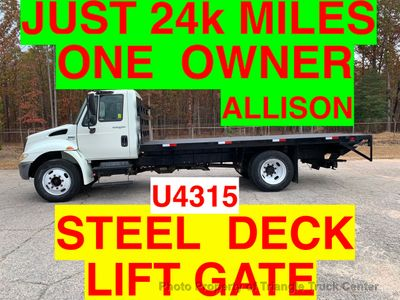 2008 International NON CDL STAKE JUST 24k MILES ONE OWNER LIFT GATE! ALLISON AUTO STEEL DECK