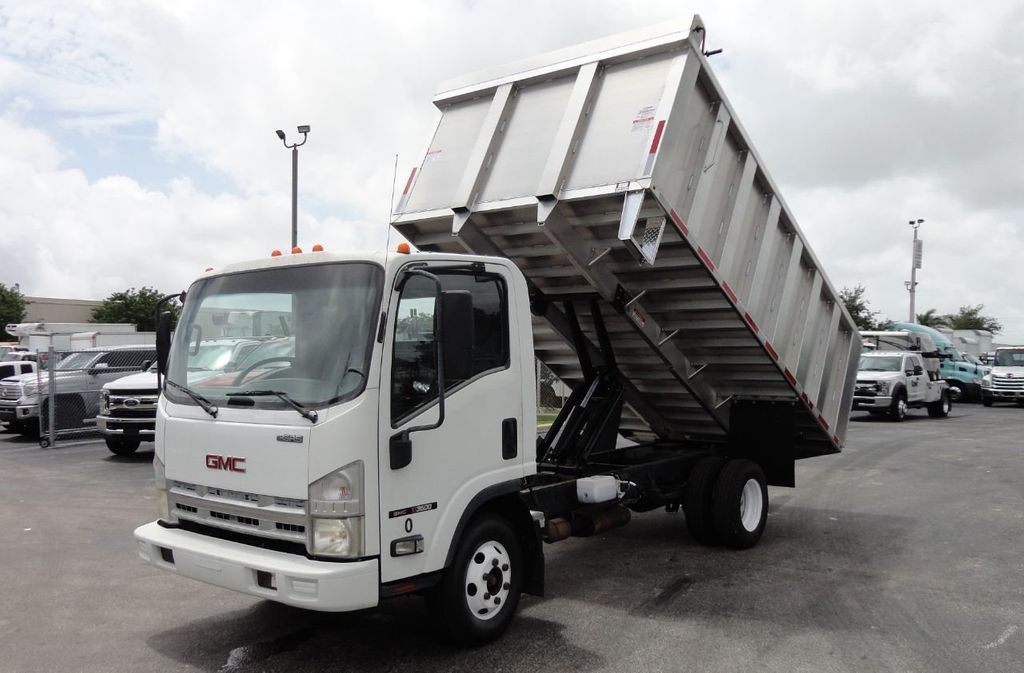 2008 Isuzu NPR *NEW*ADVANCED FABRICATORS 14FT ALUMINUM TRASH DUMP.. - 17720177 - 0