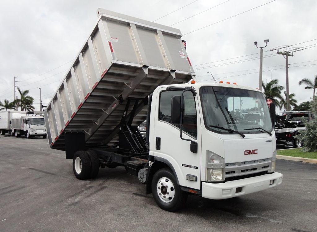 2008 Isuzu NPR *NEW*ADVANCED FABRICATORS 14FT ALUMINUM TRASH DUMP.. - 17720177 - 2