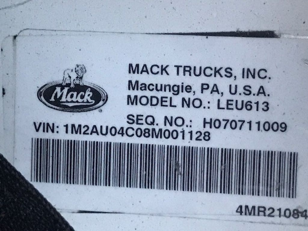 2008 Mack LE 613 REAR LOADER 25 YARD PACKER PRIVATE SANITATION  **  RECYCLE **  LETS SAVE THE WORLD - 16212874 - 20
