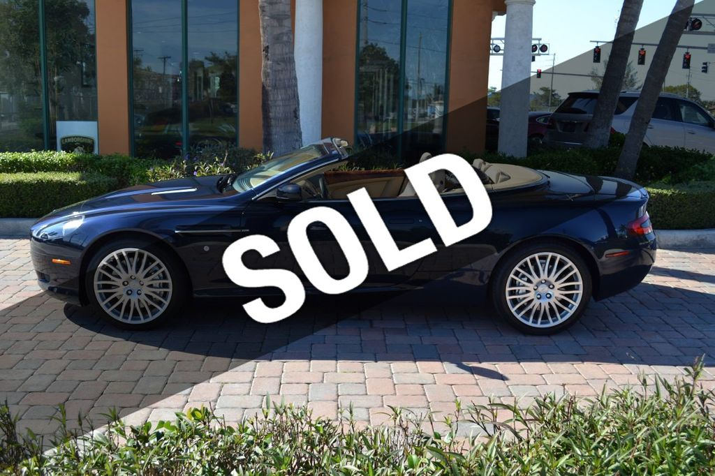 2009 Aston Martin DB9 NEW ARRIVAL! V12 Powered! Just 8566 miles!! CONVERTIBLE! - 18401768 - 0