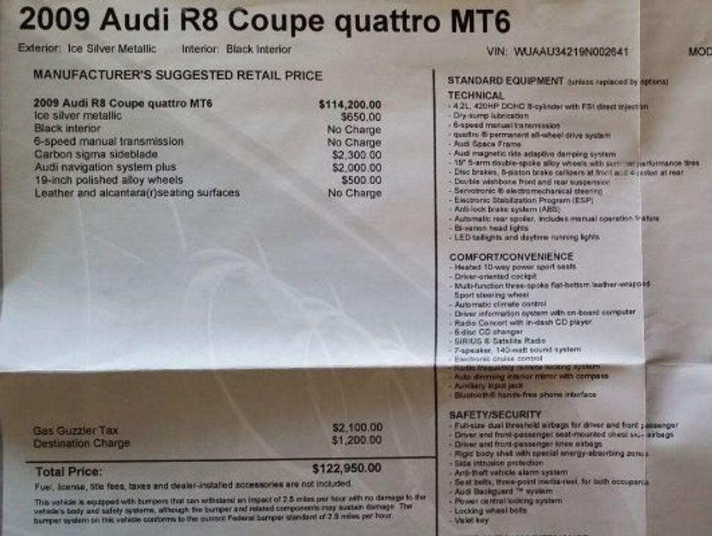 2009 Audi R8 QUATTRO R8 QUATTRO 6 SPEED - 16852031 - 39