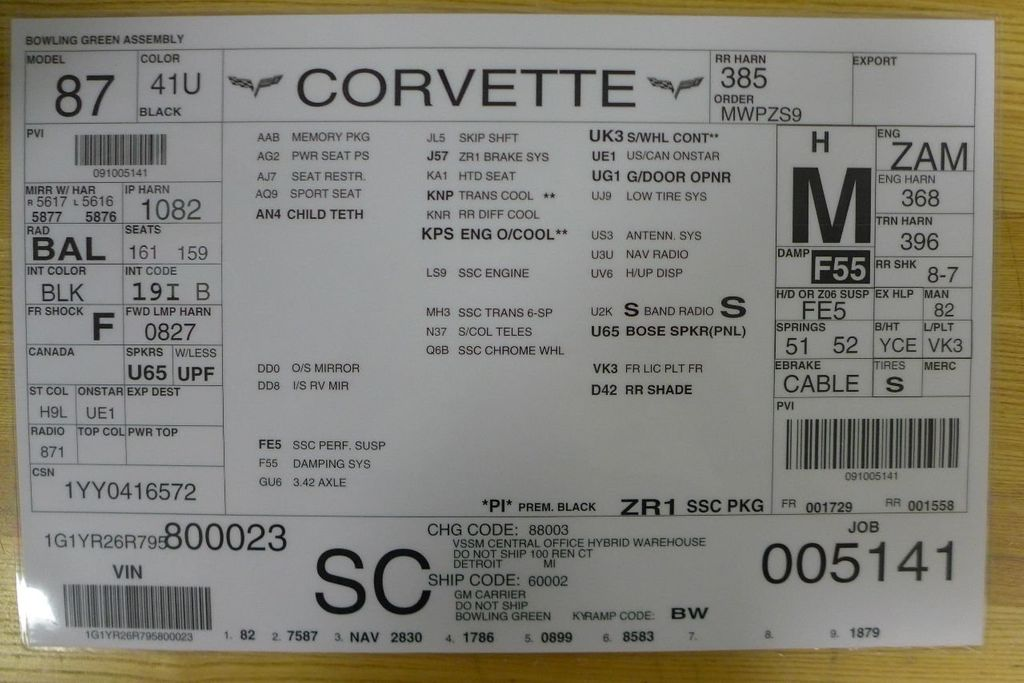 2009 Chevrolet Corvette 2dr Coupe ZR1 w/3ZR - 17910542 - 87
