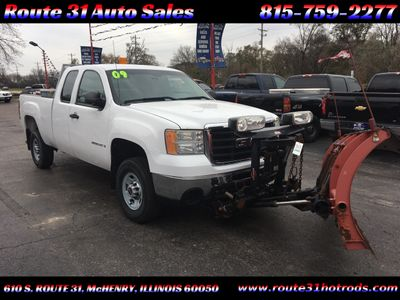 "2009 GMC Sierra 2500HD 4WD Ext Cab 143.5"" Work Truck - Click to see full-size photo viewer"