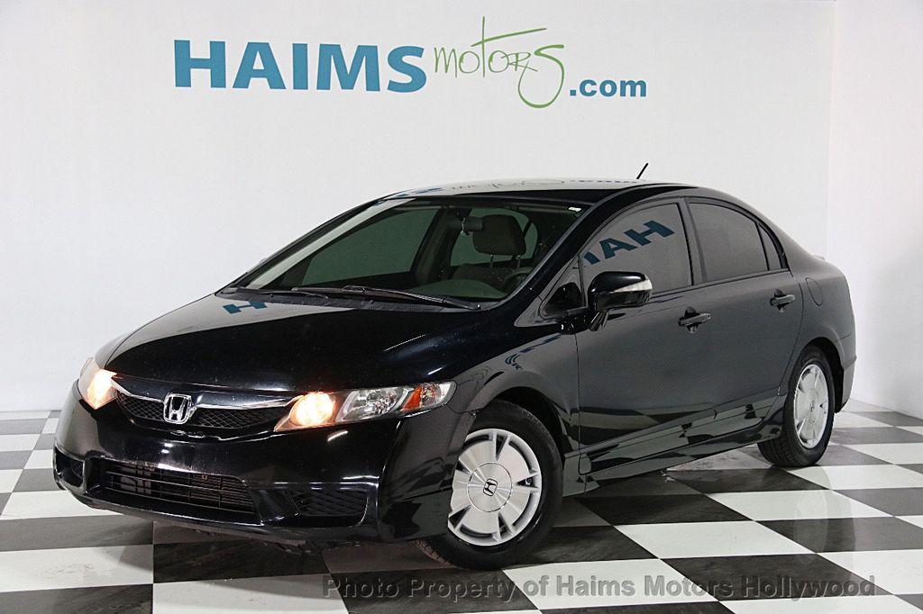 2009 used honda civic hybrid 4dr sedan at haims motors for Honda hollywood service