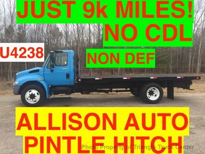 2009 International NON CDL FLATBED JUST 9k MILES ONE OWNER PINTLE HITCH SUPER CLEAN!!