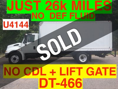 2009 International NON CDL JUST 26k MILES ONE OWNER BOX LIFT GATE DT466 BIG ALLISON SUPER CLEAN