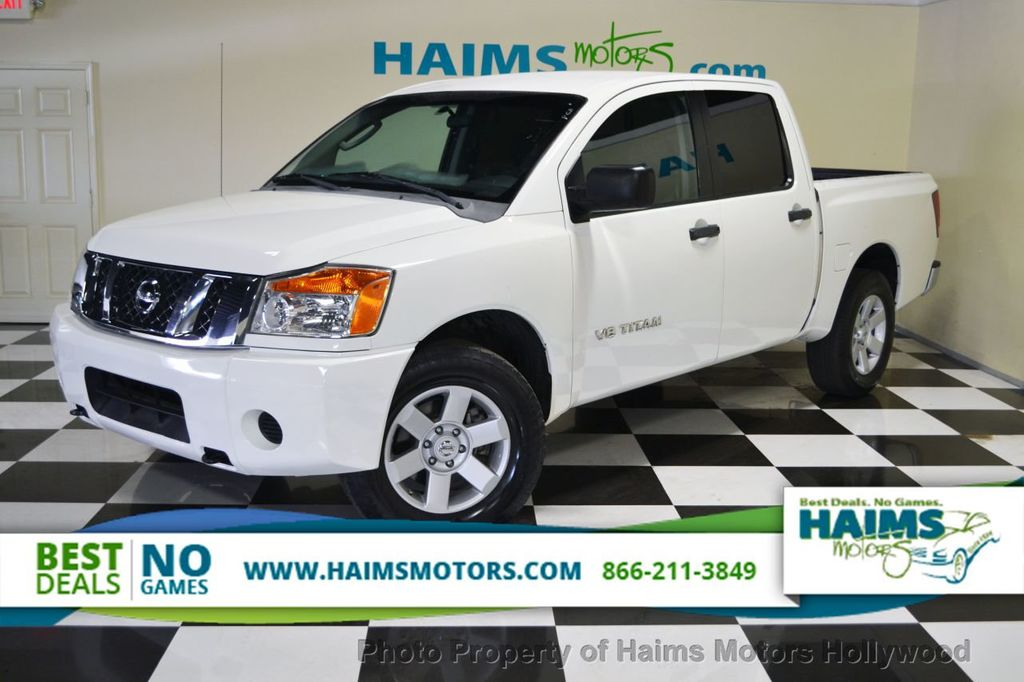 2009 used nissan titan 2wd crew cab lwb xe at haims motors serving fort lauderdale hollywood. Black Bedroom Furniture Sets. Home Design Ideas