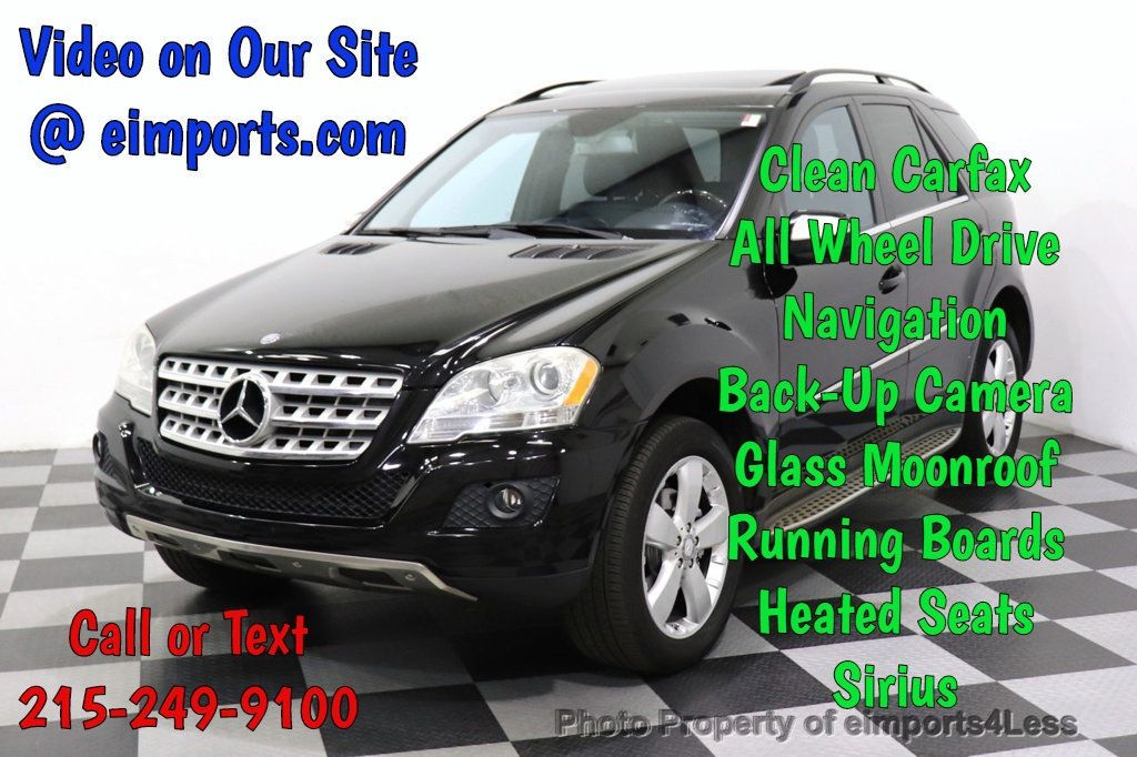 2010 Mercedes-Benz M-Class CERTIFIED ML350 4MATIC AWD NAV CAM MOON ROOF  - 18660585 - 0