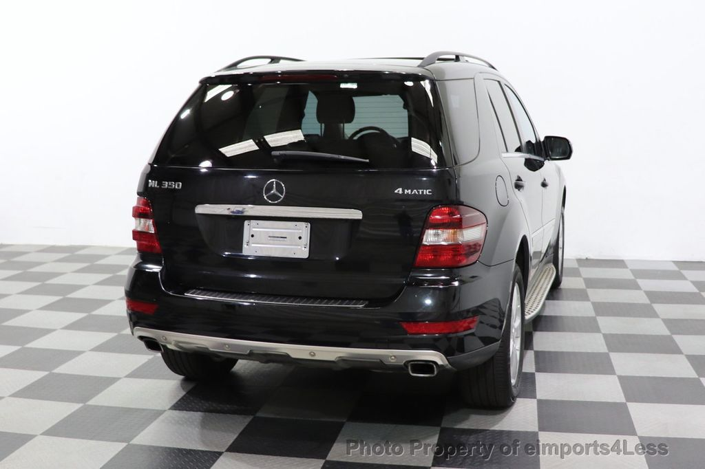 2010 Mercedes-Benz M-Class CERTIFIED ML350 4MATIC AWD NAV CAM MOON ROOF  - 18660585 - 28