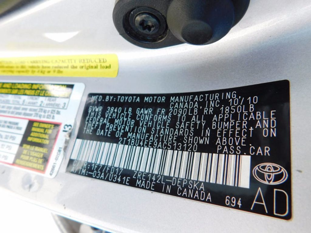 2010 toyota corolla 4dr sedan automatic s 16919940 12