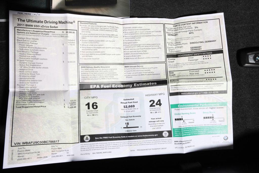 2011 BMW 5 Series 550i xDrive - 18193519 - 63