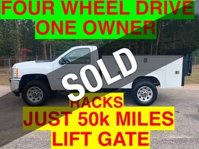 2011 Chevrolet 3500HD 4X4 SRW UTILITY SERVICE BODY JUST 50k MILES LIFT GATE ONE OWNER VA TRUCK