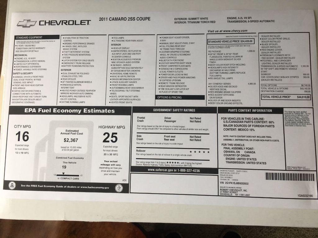 2011 Chevrolet Camaro Synergy - 18505266 - 91