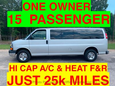 2011 Chevrolet EXPRESS 3500HD EXTENDED 15 PASSENGER JUST 25k MI ONE OWNER HI CAPACITY REAR A/C AND HEAT!!