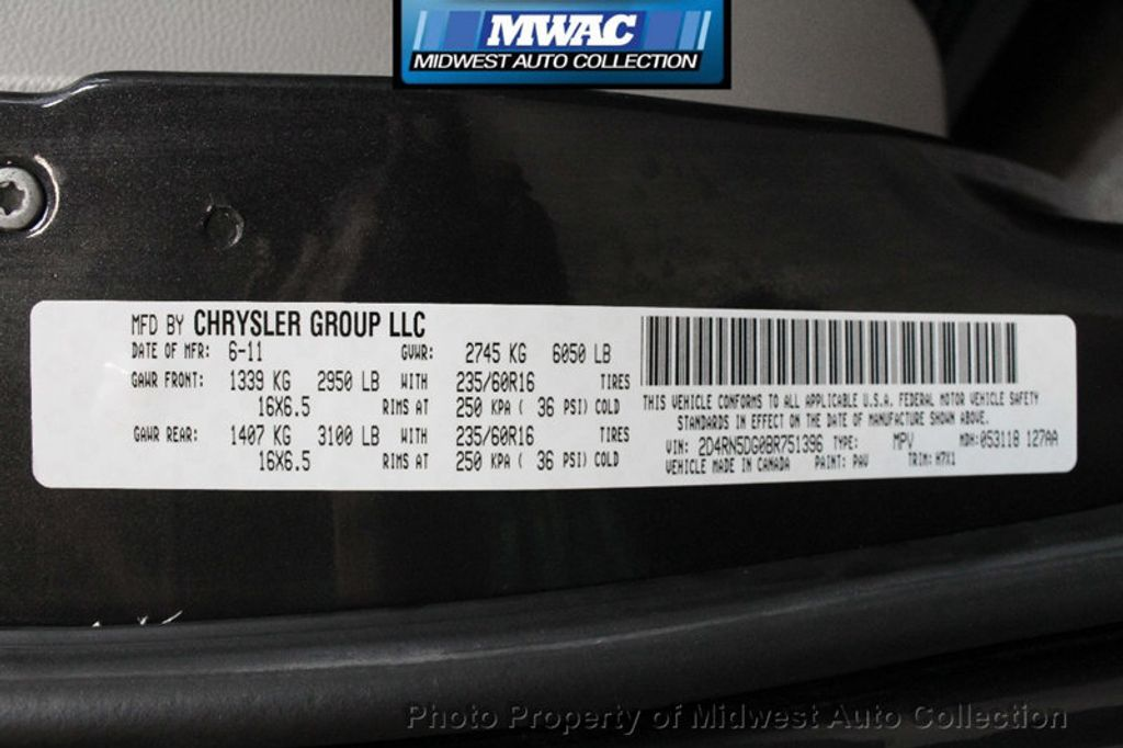 2011 Dodge Grand Caravan CREW NAV BACK UP DVD  - 17858047 - 35