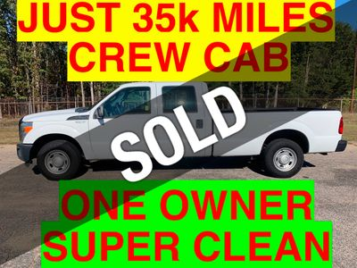 2011 Ford F250HD CREW CAB 4 DOOR LONGBED JUST 35k MILES ONE OWNER 6.2 385HP TRITON GAS HITCH