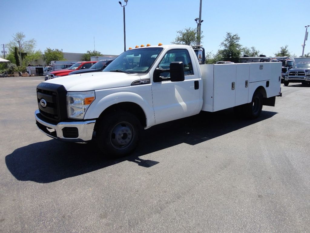 2011 Ford F350 4X2 V8 GAS..12FT UTILITY TRUCK BED.. - 17456204 - 0