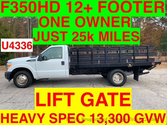 2011 Ford F350HD 12+ FOOT RACK LIFT GATE JUST 25k MILES SUPER CLEAN ONE OWNER VA TRUCK!