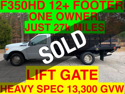 2011 Ford F350HD 12+ FOOT RACK LIFT GATE JUST 27k MILES SUPER CLEAN ONE OWNER VA TRUCK!