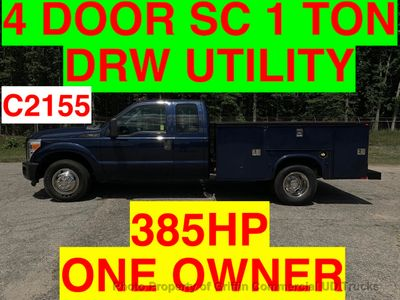 2011 Ford F350HD 4 DOOR SC DRW UTILITY JUST 44k MILES ONE OWNER 385HP TRITON- EVERYBODY RIDES!!