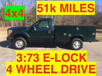 2011 Ford F350HD 4X4 UTILITY JUST 51k MILES ONE OWNER HITCH AND E-LOCK AXLE!! HEAVY DUTY WORK TRUCK!